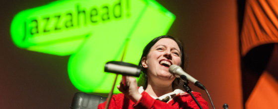 Jazzahead! - Festival und Messe vom 21.-24.04.2016 in der Messe Bremen.  Musical Performance mit Erika Stucky Bubbles & Bangs.