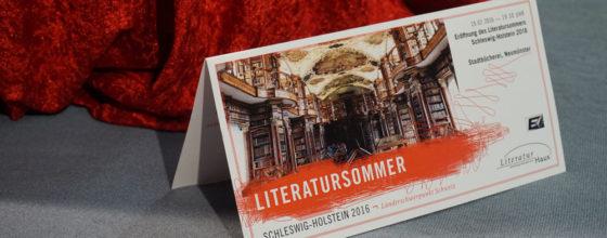 Eröffnung Literatursommer 2016