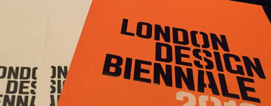 London Design Biennale Cover
