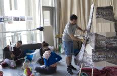 Teilnehmende an der Plattform Camping