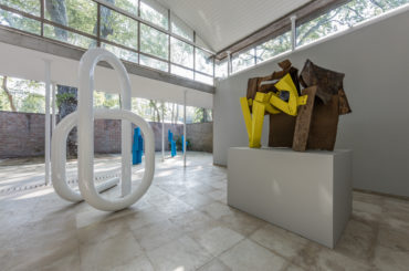 Installation view of Carol Bove's sculptures included in Women of Venice at the Swiss Pavilion, 57th Venice Biennale, 2017