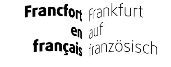 Francfort en français - Frankfurter Buchmesse 2017