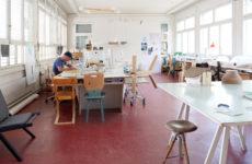 Florian Hauswirth im Atelier © Pro Helvetia