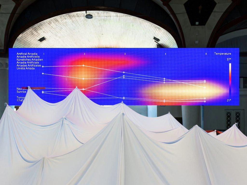 Ausblick vom Hochsitz auf «Artificial Arcadia»