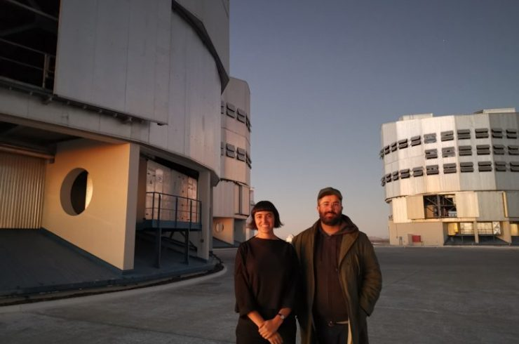 Nicole L´Huillier and Alan Bogana at ALMA / ESO in Chile