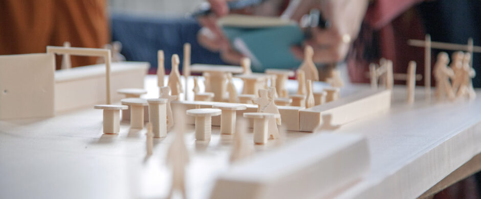 Work in model in Basel © Swiss Pavilion's team of the Venice Architecture Biennale