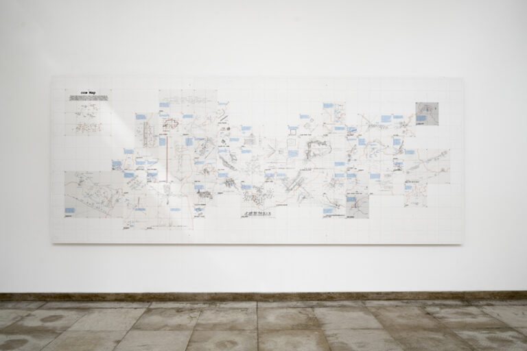 """Installation view of """"oræ – Experiences on the Border"""" at the Swiss Pavilion"""